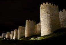 Τοίχοι Avila (Ισπανία) Στοκ εικόνα με δικαίωμα ελεύθερης χρήσης
