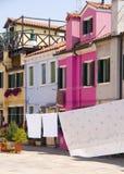 Τοίχοι Burano, Βενετία Στοκ εικόνα με δικαίωμα ελεύθερης χρήσης