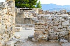 Τοίχοι Phaistos Στοκ Φωτογραφίες