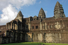 Τοίχοι Wat Angkor Στοκ φωτογραφία με δικαίωμα ελεύθερης χρήσης