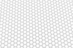 Τοίχος άσπρα hexagons Στοκ Φωτογραφίες