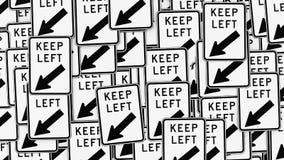 Τοίχος αημένων των συντήρηση σημαδιών κυκλοφορίας ελεύθερη απεικόνιση δικαιώματος