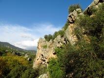 Τοίχος αναρρίχησης βράχου σε Geyikbayiri, Τουρκία Στοκ Εικόνα