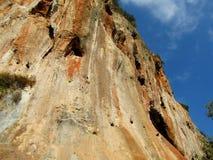 Τοίχος αναρρίχησης βράχου σε Geyikbayiri, Τουρκία Στοκ φωτογραφία με δικαίωμα ελεύθερης χρήσης