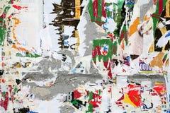 τοίχος απορρίματος αφισώ& Στοκ εικόνες με δικαίωμα ελεύθερης χρήσης
