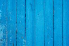 Τοίχος από τους παλαιούς μπλε πίνακες με το shabby χρώμα - υπόβαθρο ή κείμενο Στοκ φωτογραφία με δικαίωμα ελεύθερης χρήσης