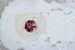 Τοίχος, ασβεστοκονίαμα και υποδοχή Στοκ Εικόνες