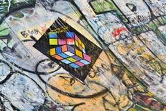 Τοίχος Α γκράφιτι Στοκ Φωτογραφίες