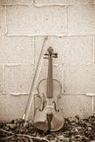 τοίχος βιολιών τούβλου Στοκ φωτογραφία με δικαίωμα ελεύθερης χρήσης