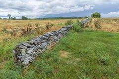 Τοίχος βράχου στο ιστορικό πεδίο μάχη Antietam Στοκ Φωτογραφία