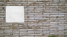 Τοίχος για τη διαφήμιση στοκ φωτογραφίες