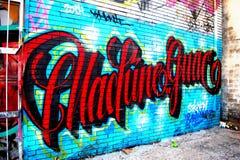 Τοίχος γκράφιτι, στο κέντρο της πόλης Χιούστον, TX 2 Στοκ Εικόνες