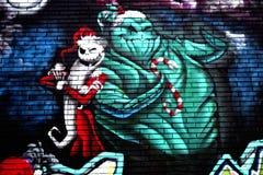 Τοίχος γκράφιτι, στο κέντρο της πόλης Χιούστον, TX 8 Στοκ Φωτογραφία