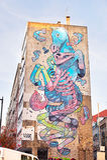 τοίχος γκράφιτι της Λισσαβώνας Στοκ φωτογραφία με δικαίωμα ελεύθερης χρήσης