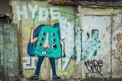 Τοίχος γκράφιτι της Μπανγκόκ Στοκ Φωτογραφίες