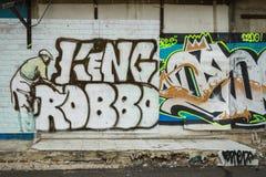 Τοίχος γκράφιτι της Μπανγκόκ Στοκ Εικόνα