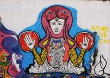 τοίχος γκράφιτι Στοκ Εικόνες