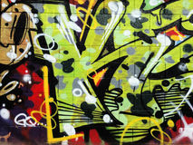 Τοίχος γκράφιτι Στοκ φωτογραφία με δικαίωμα ελεύθερης χρήσης