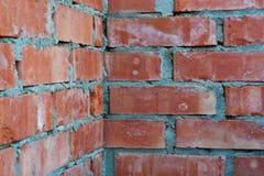 τοίχος γωνιών τούβλου Στοκ εικόνες με δικαίωμα ελεύθερης χρήσης