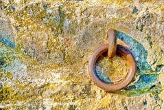τοίχος δαχτυλιδιών σιδήρου Στοκ Φωτογραφίες