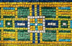 Τοίχος διακοσμήσεων ένα ζωηρόχρωμο μωσαϊκό γυαλιού Στοκ εικόνα με δικαίωμα ελεύθερης χρήσης