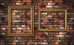 τοίχος δύο πλαισίων grunge στοκ εικόνες με δικαίωμα ελεύθερης χρήσης