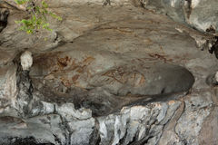 τοίχος εικόνων σπηλιών Στοκ Φωτογραφία