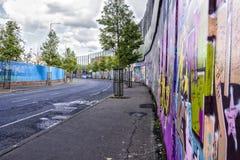 Τοίχος ειρήνης στο Μπέλφαστ, Βόρεια Ιρλανδία στοκ φωτογραφίες