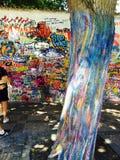 Τοίχος ειρήνης του John Lennon Στοκ φωτογραφία με δικαίωμα ελεύθερης χρήσης