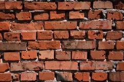 Τοίχος ενός μεσαιωνικού κάστρου με τα κόκκινα τούβλα αργίλου Στοκ φωτογραφία με δικαίωμα ελεύθερης χρήσης