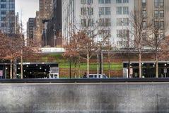 Τοίχος διαβίωσης στο πάρκο ελευθερίας, Μανχάταν, πόλη της Νέας Υόρκης στοκ εικόνα