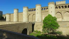 Τοίχος και γέφυρα Aljaferia, Σαραγόσα, Ισπανία φιλμ μικρού μήκους