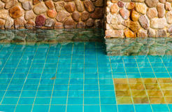Τοίχος και νερό γρανίτη Στοκ Εικόνες