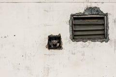 Τοίχος και louver στοκ εικόνες