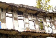 Τοίχος και Windows Στοκ φωτογραφία με δικαίωμα ελεύθερης χρήσης