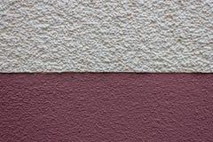 Τοίχος Λευκών Οίκων μετάβασης στην κόκκινη λεπτομέρεια σύστασης housewall Στοκ Εικόνα