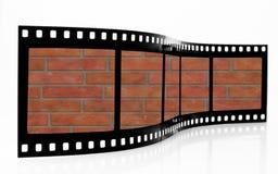 τοίχος λουρίδων ταινιών τούβλου Στοκ φωτογραφία με δικαίωμα ελεύθερης χρήσης