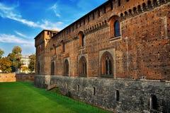 Τοίχος Μεσαιώνων του παλαιού κάστρου Στοκ Φωτογραφίες