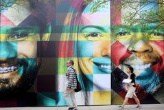 Τοίχος με τα πρόσωπα Στοκ Φωτογραφία