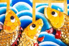 Τοίχος με τα ψάρια Στοκ φωτογραφίες με δικαίωμα ελεύθερης χρήσης