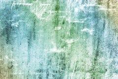 Τοίχος με τα όμορφα γαλαζοπράσινα διαζύγια, κλίση Σύσταση του χρώματος και του ασβεστοκονιάματος στις γρατσουνιές και τις ρωγμές Στοκ Εικόνες