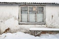 Τοίχος με την ανασκόπηση παραθύρων Στοκ Εικόνες