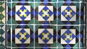 Τοίχος με το αφηρημένο μπλε σχέδιο φιλμ μικρού μήκους