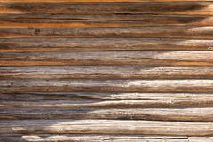 Τοίχος μιας ξύλινης καλύβας στοκ φωτογραφίες