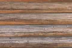 Τοίχος μιας ξύλινης καλύβας στοκ εικόνες