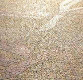 τοίχος Μιλάνο στην αφηρημένη πέτρα μωσαϊκών υποβάθρου Στοκ εικόνες με δικαίωμα ελεύθερης χρήσης