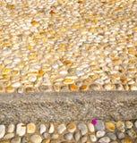 τοίχος Μιλάνο στην πέτρα μωσαϊκών της Ιταλίας Στοκ φωτογραφία με δικαίωμα ελεύθερης χρήσης
