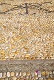 τοίχος Μιλάνο στην πέτρα μωσαϊκών της Ιταλίας Στοκ εικόνες με δικαίωμα ελεύθερης χρήσης