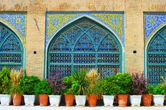 Τοίχος μουσουλμανικών τεμενών Shah Τεχεράνη, Ιράν Στοκ Εικόνα