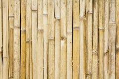 τοίχος μπαμπού ανασκόπησης Στοκ Εικόνες
